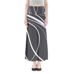 Black and white elegant design Maxi Skirts