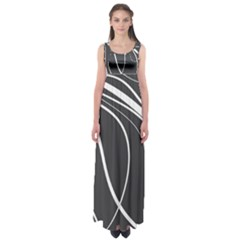 Black And White Elegant Design Empire Waist Maxi Dress