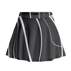 Black And White Elegant Design Mini Flare Skirt