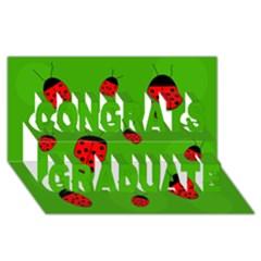 Ladybugs Congrats Graduate 3D Greeting Card (8x4)
