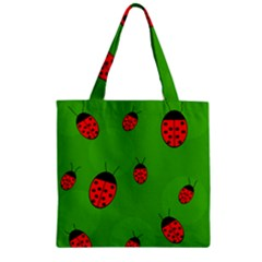Ladybugs Zipper Grocery Tote Bag