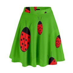 Ladybugs High Waist Skirt