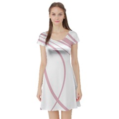 Pink elegant lines Short Sleeve Skater Dress