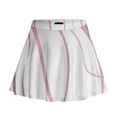 Pink Elegant Lines Mini Flare Skirt