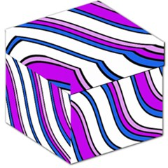 Purple Lines Storage Stool 12