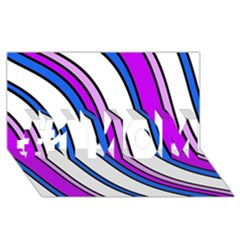 Purple Lines #1 MOM 3D Greeting Cards (8x4)
