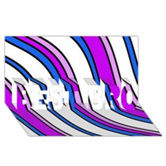 Purple Lines BEST BRO 3D Greeting Card (8x4)