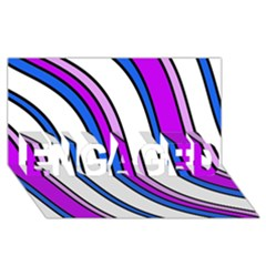 Purple Lines ENGAGED 3D Greeting Card (8x4)