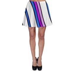 Purple Lines Skater Skirt