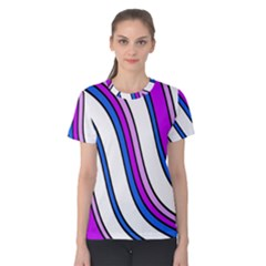 Purple Lines Women s Cotton Tee