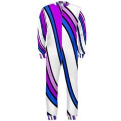 Purple Lines OnePiece Jumpsuit (Men)