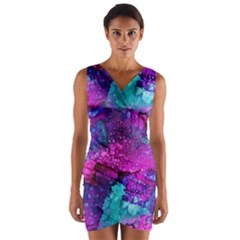 Melting In Purple Wrap Front Bodycon Dress