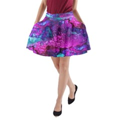 Melting In Purple A-Line Pocket Skirt