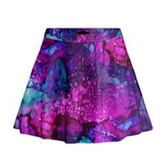 Melting In Purple Mini Flare Skirt