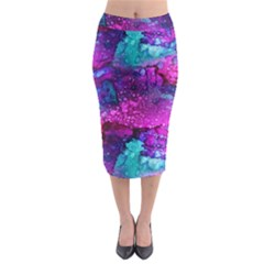 Melting In Purple Midi Pencil Skirt