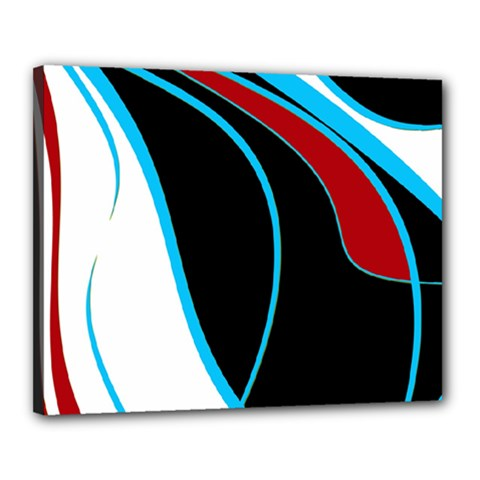 Blue, Red, Black And White Design Canvas 20  x 16