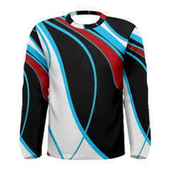 Blue, Red, Black And White Design Men s Long Sleeve Tee