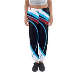 Blue, Red, Black And White Design Women s Jogger Sweatpants