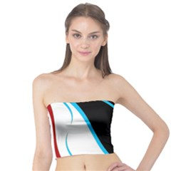 Blue, Red, Black And White Design Tube Top
