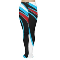 Blue, Red, Black And White Design Women s Tights