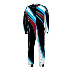 Blue, Red, Black And White Design OnePiece Jumpsuit (Kids)