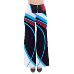 Blue, Red, Black And White Design Pants