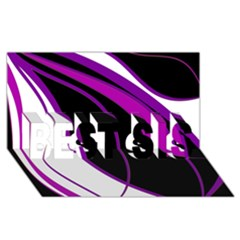 Purple Elegant Lines BEST SIS 3D Greeting Card (8x4)