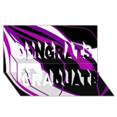 Purple Elegant Lines Congrats Graduate 3D Greeting Card (8x4)