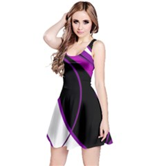 Purple Elegant Lines Reversible Sleeveless Dress