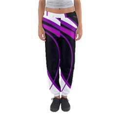 Purple Elegant Lines Women s Jogger Sweatpants