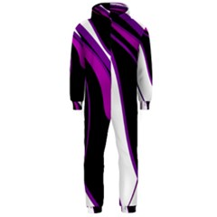 Purple Elegant Lines Hooded Jumpsuit (Men)