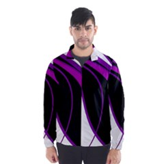 Purple Elegant Lines Wind Breaker (Men)