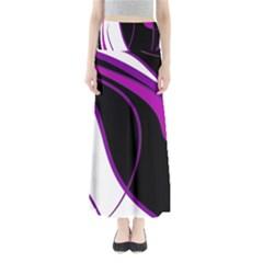 Purple Elegant Lines Maxi Skirts