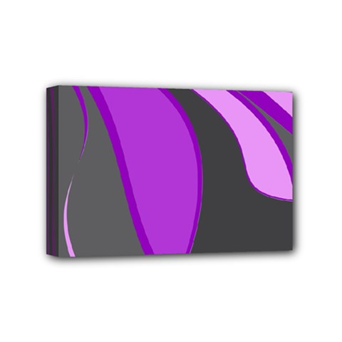 Purple Elegant Lines Mini Canvas 6  x 4