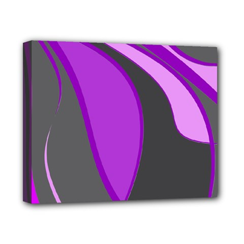 Purple Elegant Lines Canvas 10  x 8