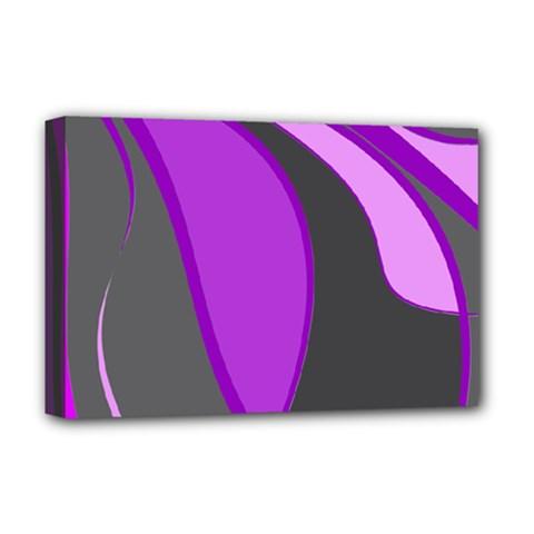 Purple Elegant Lines Deluxe Canvas 18  x 12