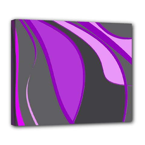 Purple Elegant Lines Deluxe Canvas 24  x 20