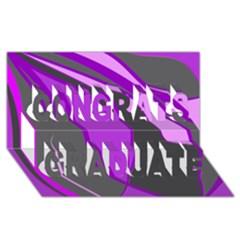 Purple Elegant Lines Congrats Graduate 3D Greeting Card (8x4)