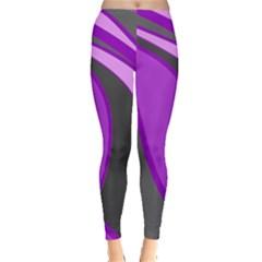 Purple Elegant Lines Leggings