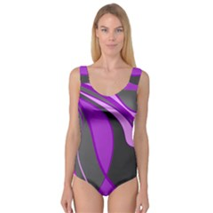 Purple Elegant Lines Princess Tank Leotard