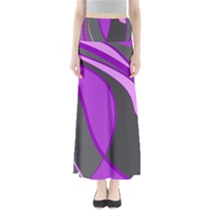 Purple Elegant Lines Maxi Skirts