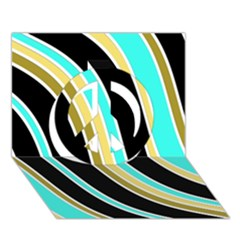 Elegant Lines Peace Sign 3D Greeting Card (7x5)