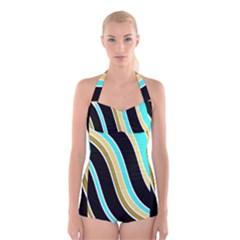 Elegant Lines Boyleg Halter Swimsuit