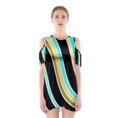 Elegant Lines Cutout Shoulder Dress