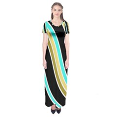 Elegant Lines Short Sleeve Maxi Dress
