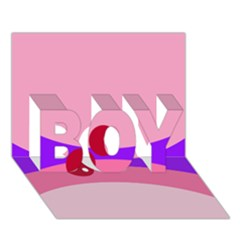 Decorative Abstraction BOY 3D Greeting Card (7x5)