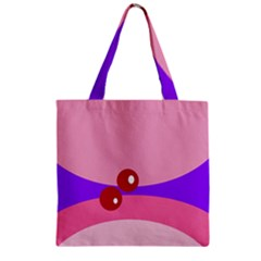 Decorative Abstraction Zipper Grocery Tote Bag