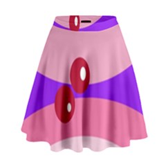 Decorative Abstraction High Waist Skirt