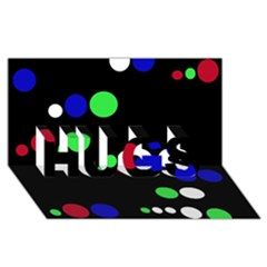 Colorful Dots Hugs 3d Greeting Card (8x4)