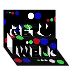 Colorful Dots Get Well 3D Greeting Card (7x5)
